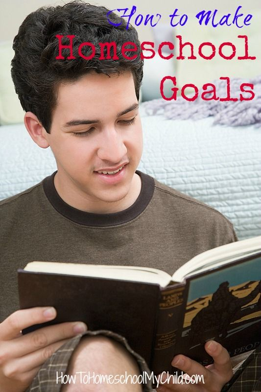 How to make homeschool goals that work from HowToHomeschoolMyChild.com