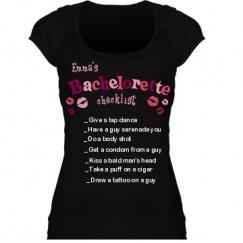Bachelorette Checklist Shirts, Tank Tops, & More