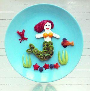 北欧で大人気♡お皿に描いたフードアートが可愛くてステキ! - NAVER まとめ