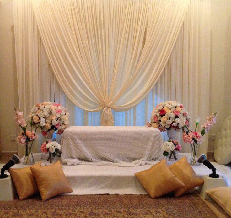 Wedding Nikah Simple Backdrop Decoration Muslim: My Pelamin Nikah