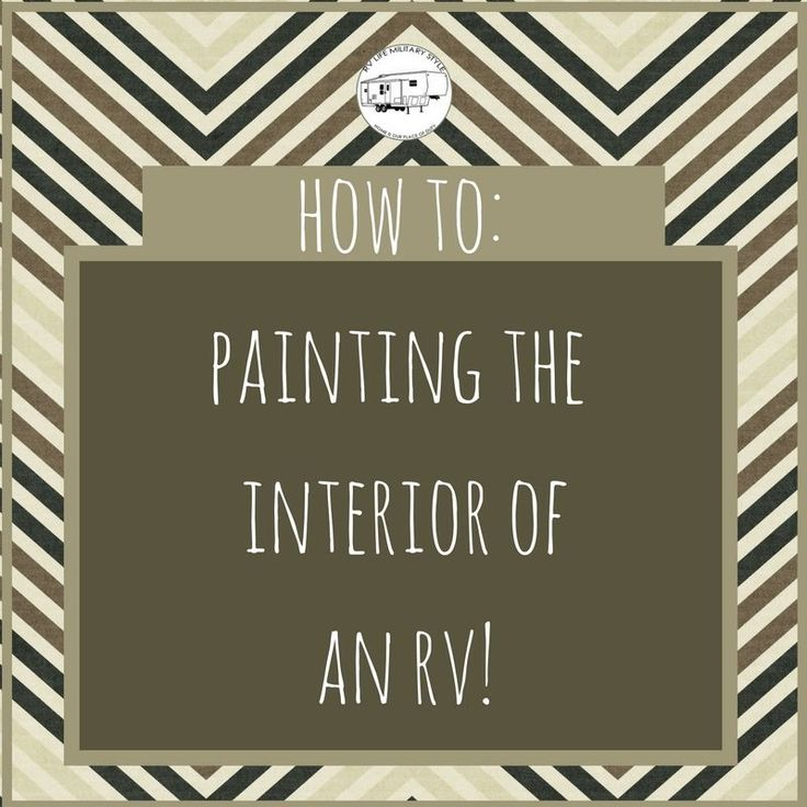 Find out the best way to paint the interior of your RV. Find out what methods work and what doesn't work and how to avoid costly mistakes.