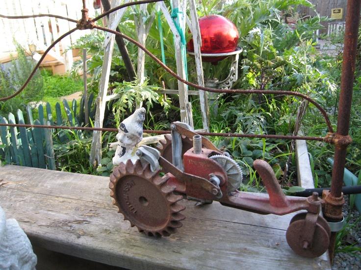 Sprinkler that travels along your garden hose. Lost idea?
