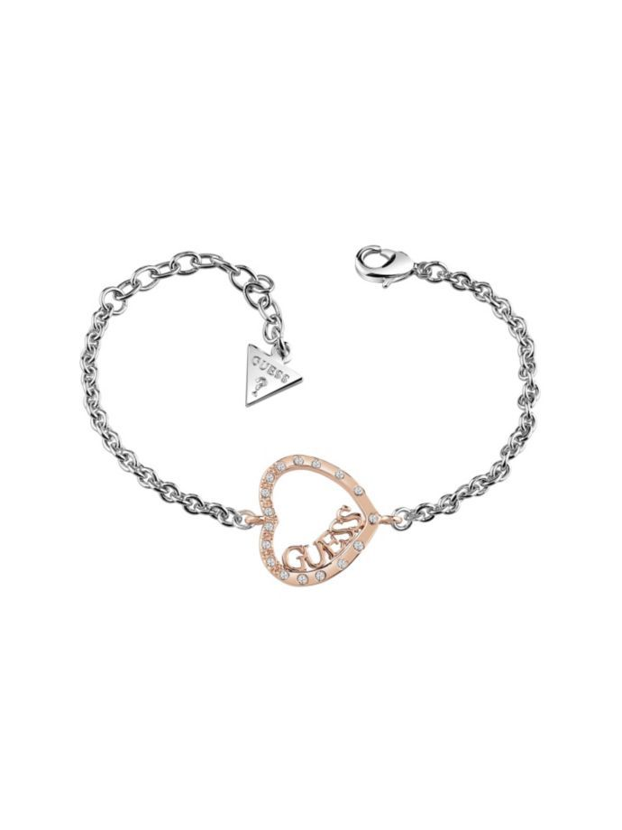 EUR39.00$  Buy now - http://viesn.justgood.pw/vig/item.php?t=6do0320529 - LOVE AFFAIR ROSE GOLD PLATED HEART BRACELET