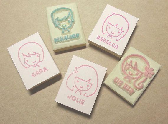 GIRLS - Personalized Mug Shot Signature Stamp
