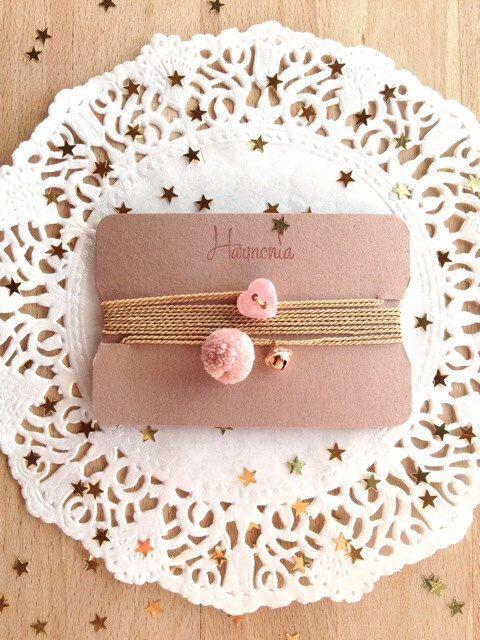 My handmade jewels on www.etsy.com/it/shop/HarmoniaStore SO CUTE!!! Love Pink!