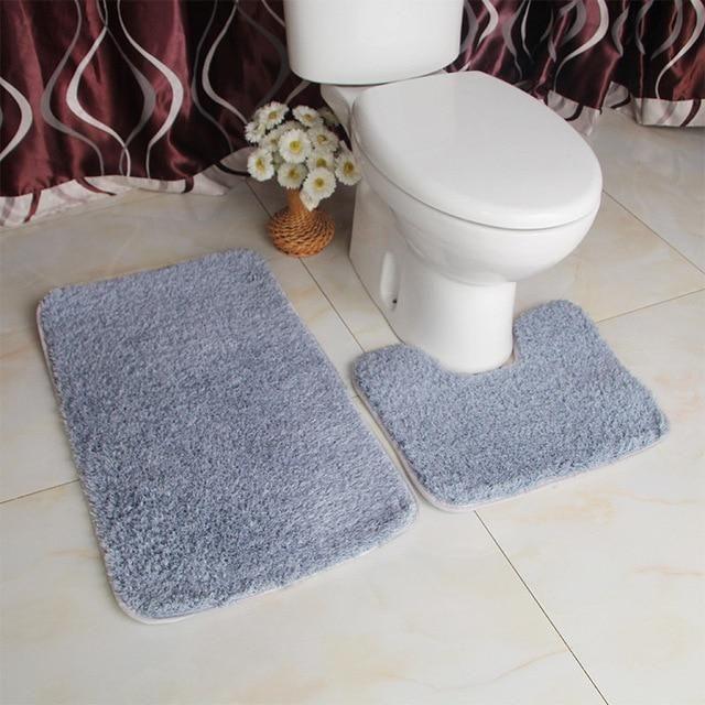 tapis de bain toilette gris tapis de