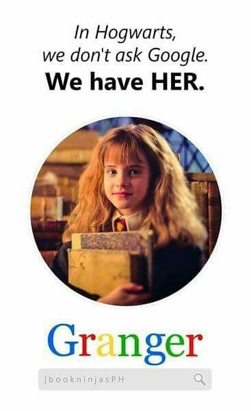 Hermione is the wizarding Google