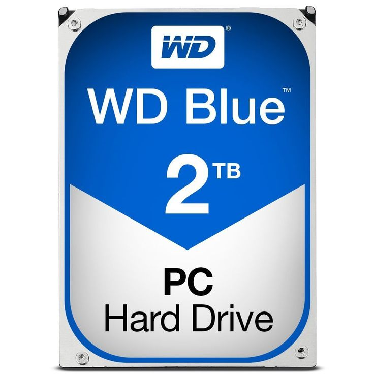 WD Blue 2TB Desktop Hard Disk Drive 5400 RPM SATA 6 Gb s 64MB Cache 3.5 Inch WD20EZRZ