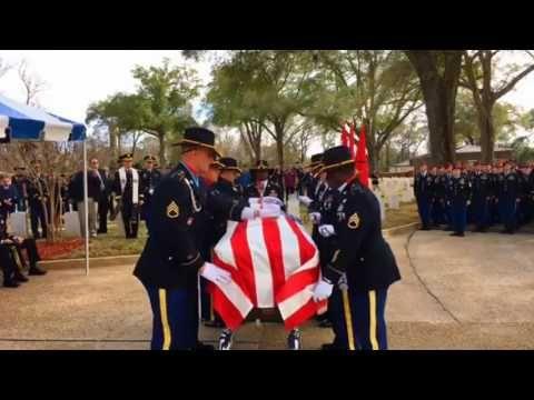 Graveside Service Ft  Benning, GA Lt. Gen. Hal Moore - YouTube