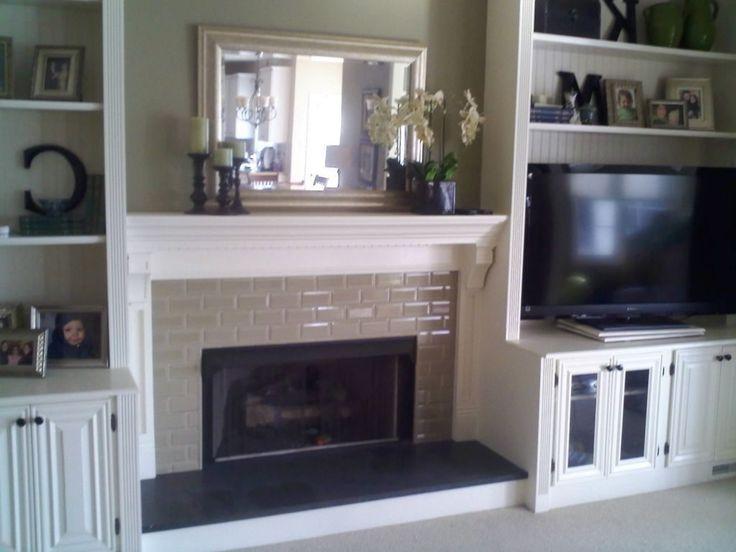 Diy Shelves Around Fireplace
