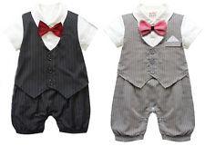 Baby Boy Formal*Party*Christening*Wedding*Tuxedo Waistcoat Bow Tie Suit 0-24M