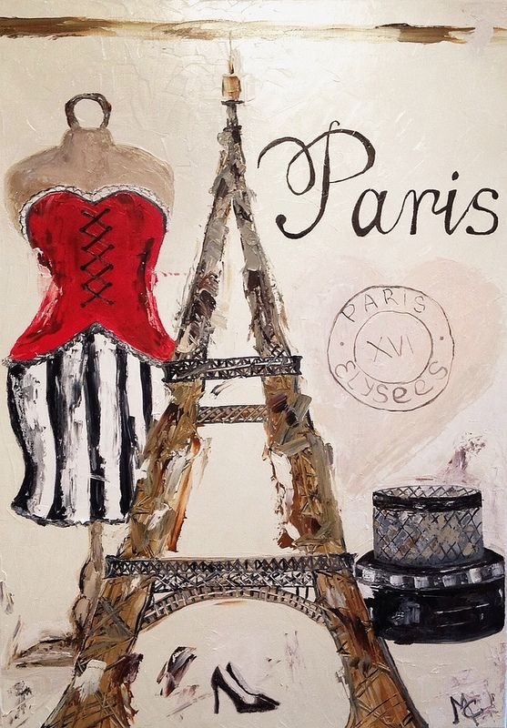 """Paris Card - Париж """"Paris card"""" (50*70 oil/canvas, 2014) """"Парижская открытка"""" 50*70, холст/масло, 2014г. by Chuprova Margarita"""