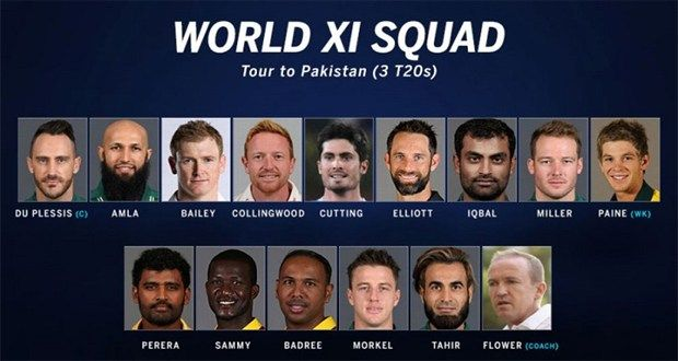 World XI tour of Pakistan 2017 schedule Time Date & Match details World XI tour of Pakistan 2017 schedule Time Date & Match details World XI tour of Pakistan 2017 schedule Time Date & Match details DateMatch DetailsTime   Sep 12, Tue  Pakistan vs World XI, 1st T20I Gaddafi Stadium,...