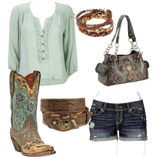 """cowgirl cutie"" by smalltowngirl15 on Polyvore"