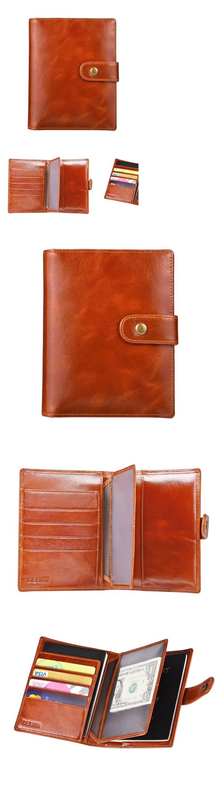 Passport Holders 163584: Ideawin Rfid Travel Wallet Case Genuine Leather Trifold 2 Passport Holder Wallet -> BUY IT NOW ONLY: $38.93 on eBay!