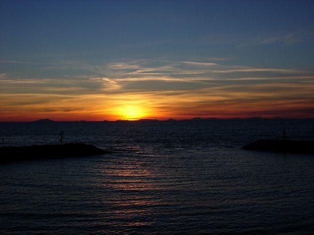 Dalla banchina del Porto #tramonti #sunset