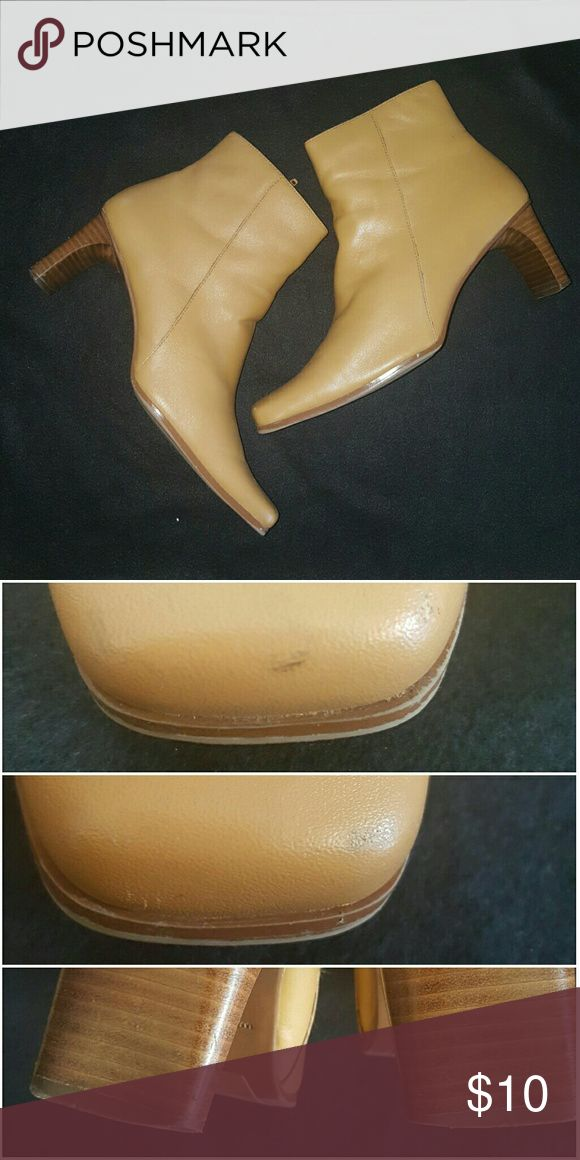 Ankle Boot Tan/Camel Size 8.5M See picture for blemishes Shoes Ankle Boots & Booties