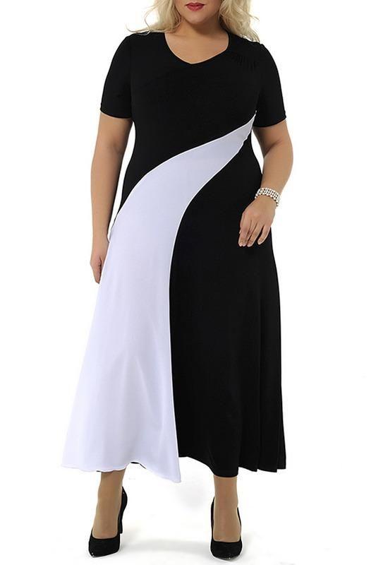Платья для полных женщин | Модные платья