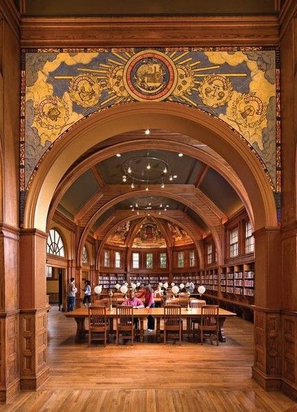 Library Room at Cambridge University, England - The Most Strikingly Beautiful Libraries Around the World - Photos