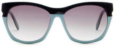 Love aqua sunglasses! Karl Lagerfeld Women's Geo Cat Eye Sunglasses