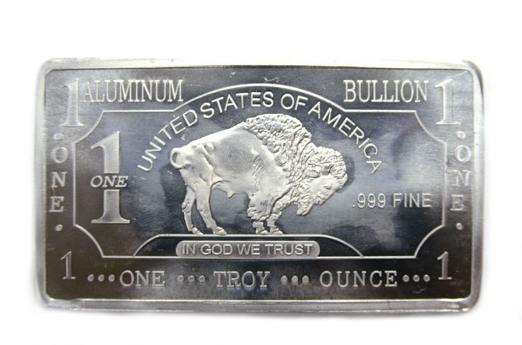 These stunning Buffalo bars contain 1 Troy ounce of. 999 Aluminum and will arrive in brilliant uncirculated condition. The American Buffalo design was produced by James Earle Fraser in 1912. He wanted to capture the wild American frontier with his artwork. | eBay!