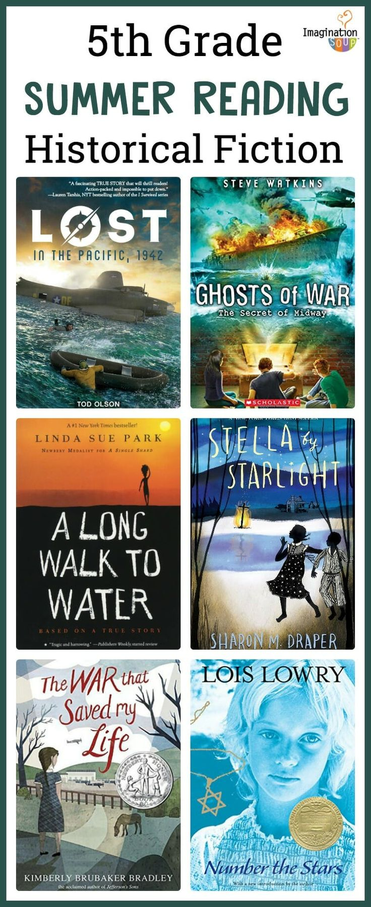 5th grade summer reading list ages 10 11 historical