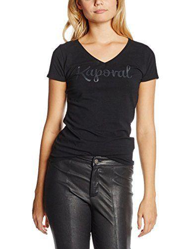 Kaporal Todd, T-Shirt Femme – Noir (Black) – FR: 38 (Taille fabricant: M): Tweet Tee Shirt Femme Marque : Kaporal MatiÚre : Coton Couleur…