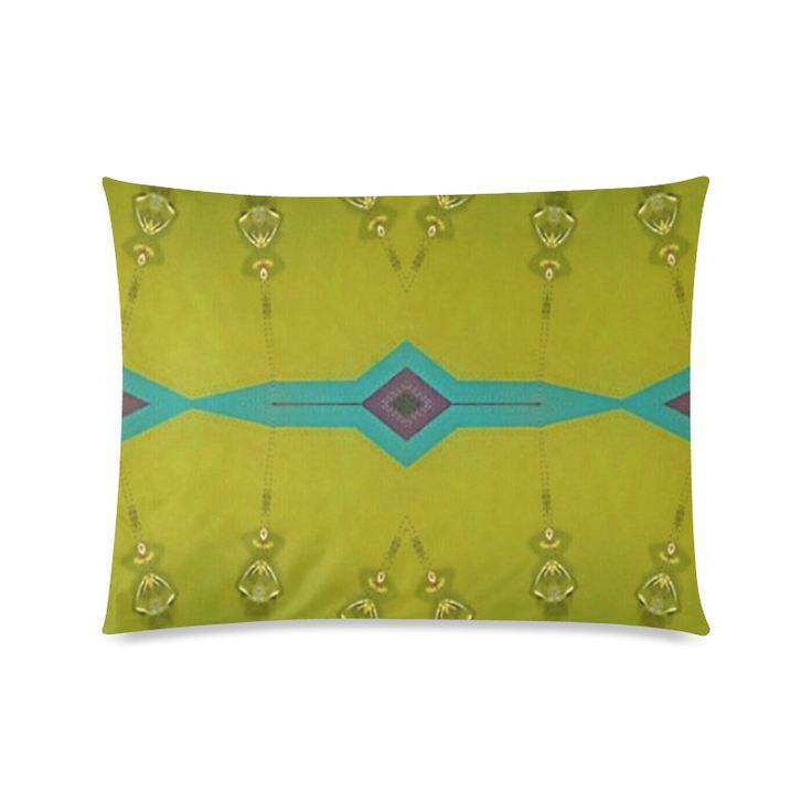 "Annabellerockz, green bells-pillow Custom Zippered Pillow Cases 20""x26""(Twin Sides)."