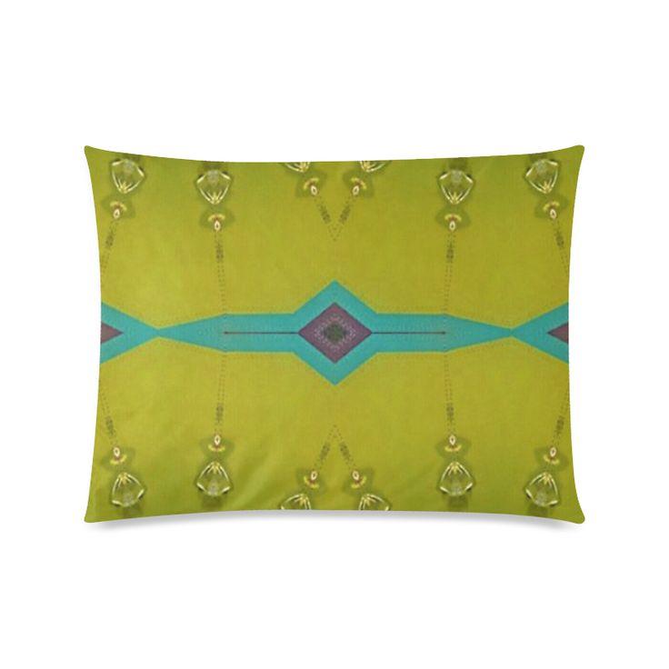 """Annabellerockz, green bells-pillow Custom Zippered Pillow Cases 20""""x26""""(Twin Sides)."""