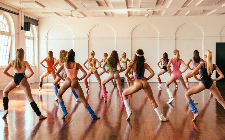 девушки, аэробика, фитнес, танцы