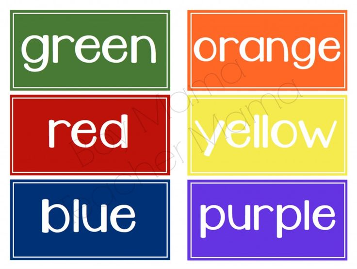 FREE Color Word Labels. Will use for organizing crayons