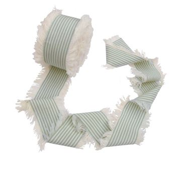 For a wider ribbon why not try our Duck Egg Blue piping stripe at 5cm it gives you more to play with! It comes in Red as well...