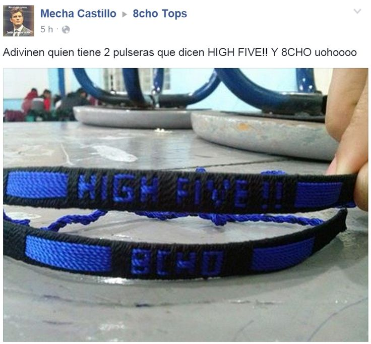 Pulseras 8cho y High Five by Mecha Castillo https://www.youtube.com/TodoTopsOficial https://www.facebook.com/8choOficial https://twitter.com/8choOficial