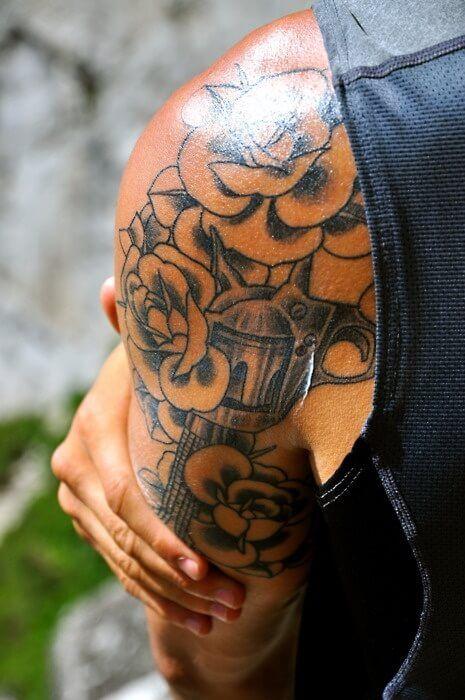 25 great ideas about gun tattoos on pinterest pistol for Tattoo generator on body