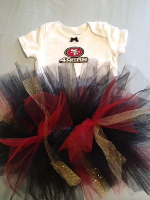NFL San Francisco 49ers Tutu Cheer Dress Outfit by hollieshobbies1, $24.95