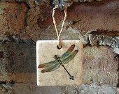 Hanging Dragonfly Ceramic Tile