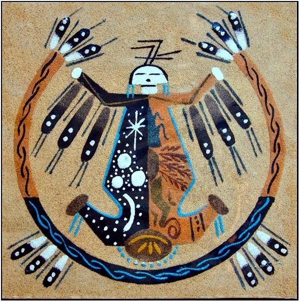 Navajo Indians sand painting