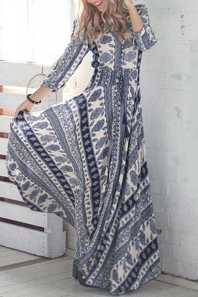 Wild Girl Aztec Long Dress