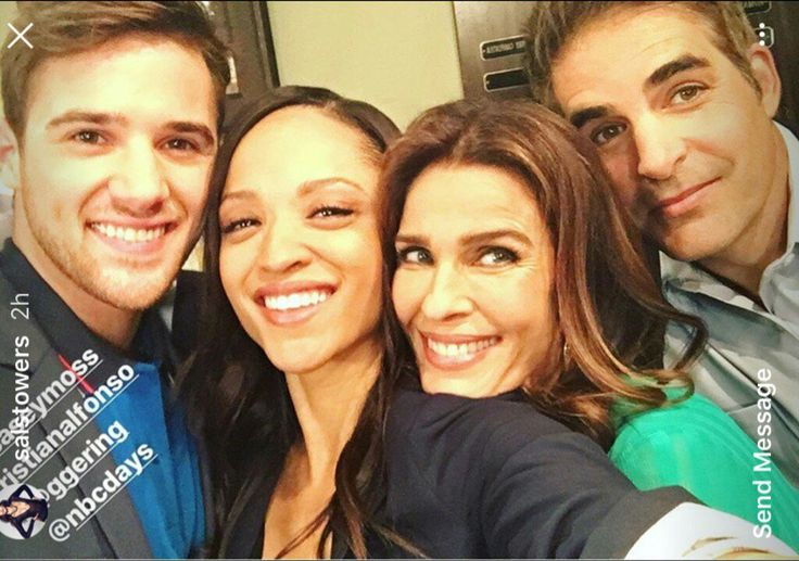 Kristian Alfonso, Sal Stowers, Casey Moss, and Galen Gering #Daysofourlives #DOOL