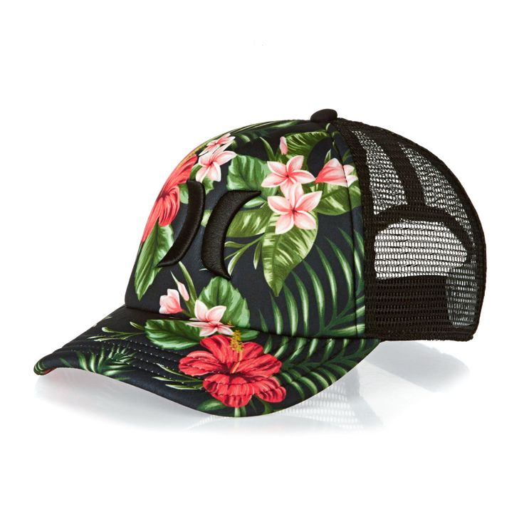 Hurley Caps - Hurley One & Only Trucker Cap - Black Floral