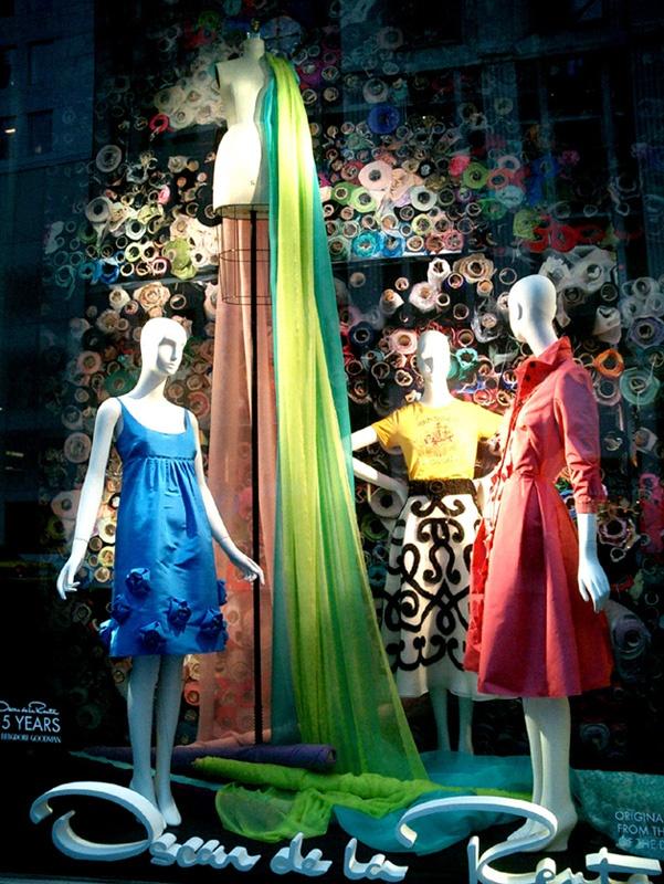 Oscar de la Renta Window. B 2003. NY. Canvas! Canvas!: Window Shopping3, Canvas