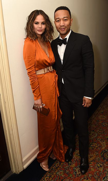 John Legend and wife Chrissy Teigen headed over to Chateau Marmont for the the GQ and Chance The Rapper Celebrate the Grammys in Partnership with YouTube party.