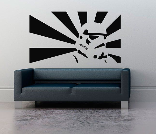 Decora la pared con vinilos star wars vinilos geek for Decoracion casa geek