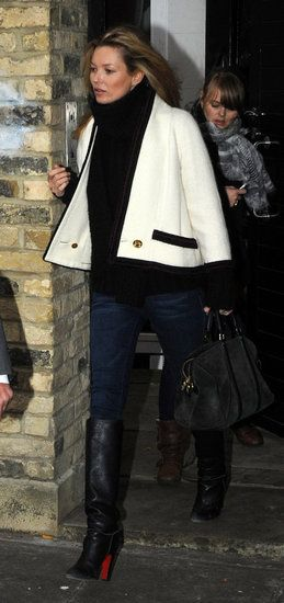 Love this simple but sophisticated outfit #Kate_Moss