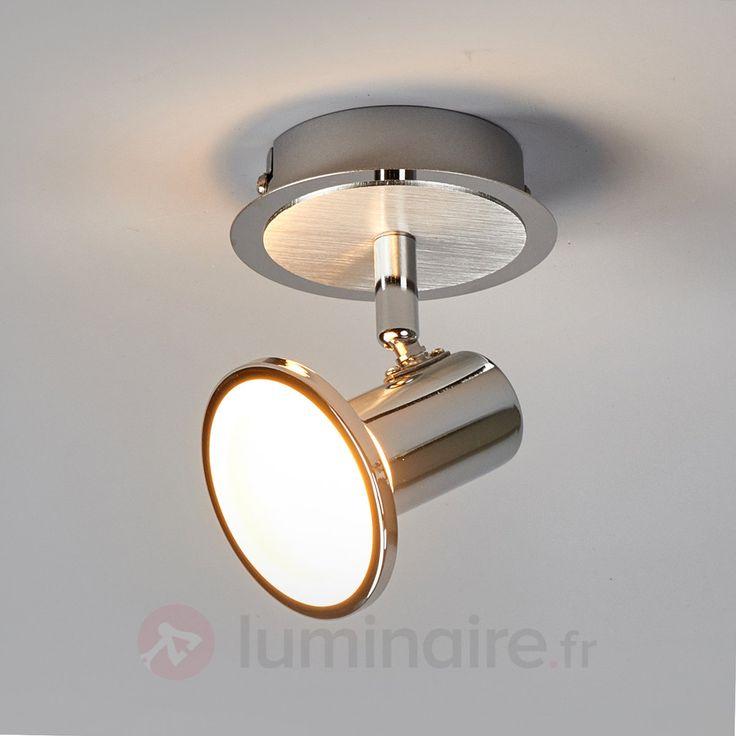 projecteur de plafond led trois lampes pieter chrome. Black Bedroom Furniture Sets. Home Design Ideas