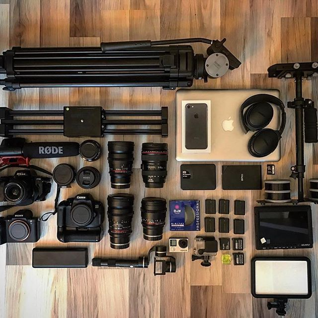 What does your gear look like? Use #Rentorlend Photo by @onurhanguclu Tag someone who always needs more gear #camera #gear #cameras #sony #a7sii #canon #nikon #gopro #lens #videoshoot #videography