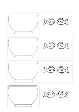 Fish in bowl optical illusion craft for kids. Free printable template.