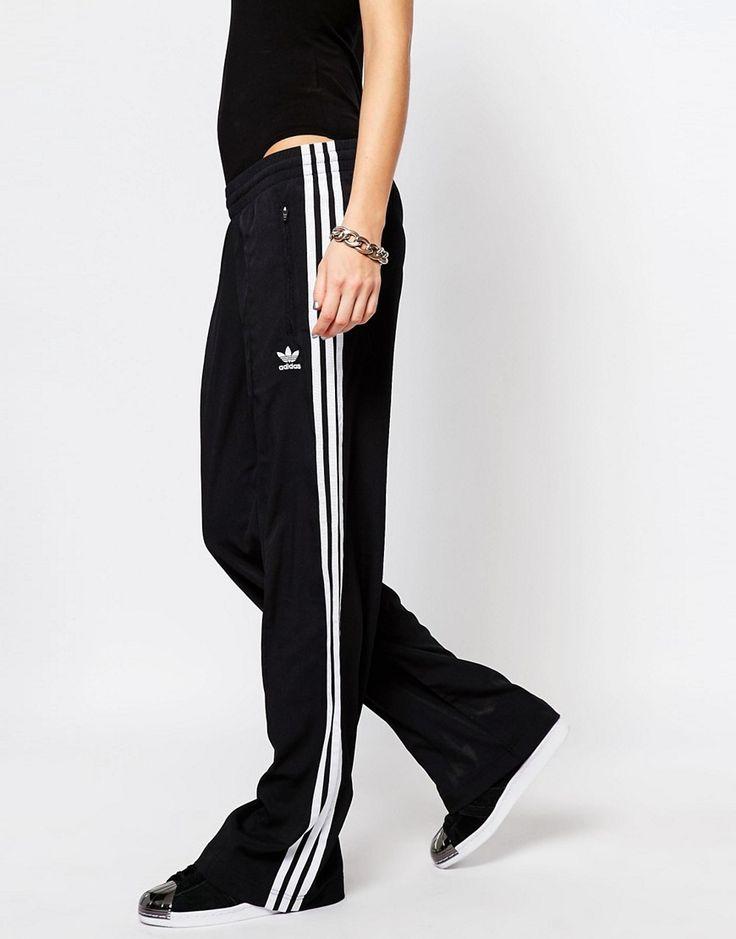 Image 4 ofadidas Originals 3 Stripe Wide Leg Track Pants
