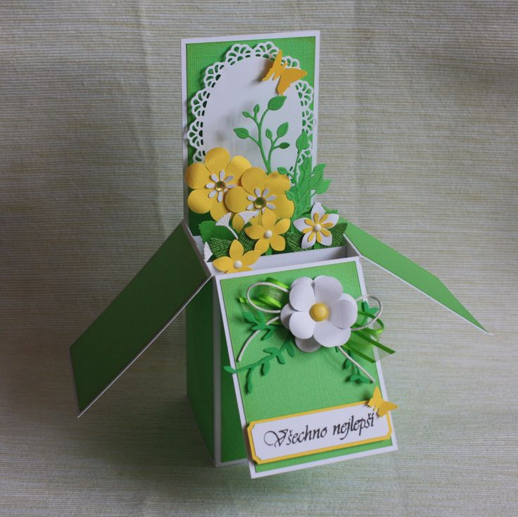 Card in box for birthday