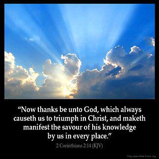 Inspirational Image for 2 Corinthians 2:14